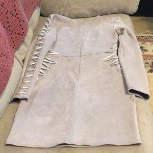 Missguided Dresses - Faux suede dress